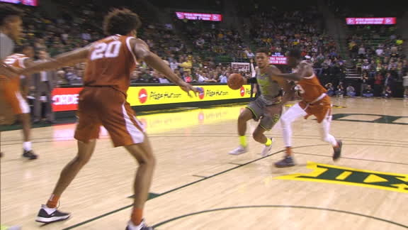 Baylor's Teague beats shot clock with layup drive