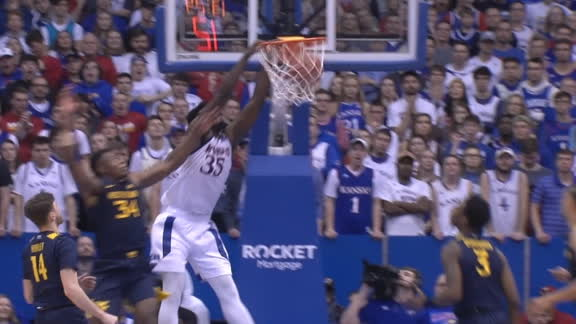 Azubuike draws 3-point play off the alley-oop slam