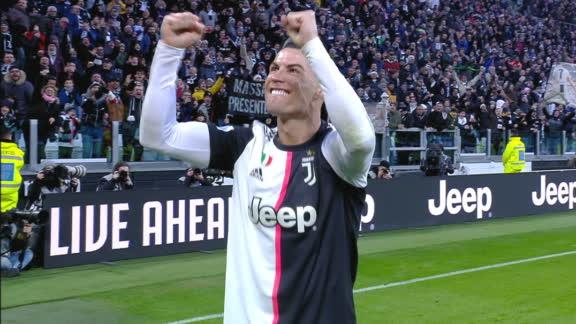 Cristiano Ronaldo completes his hat trick vs. Cagliari