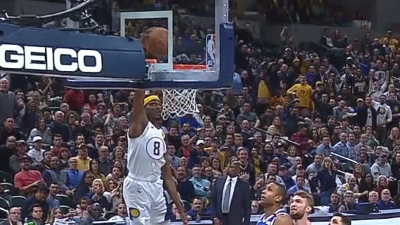 McConnell picks Neto's pocket for a Justin Holiday slam