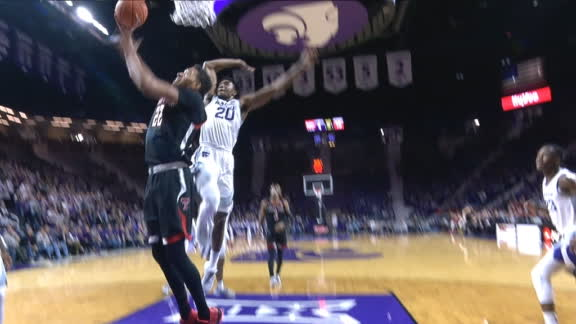 Sneed swats shot off glass for massive rejection