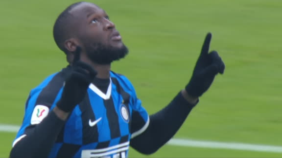 Lukaku puts Inter 3 up after halftime