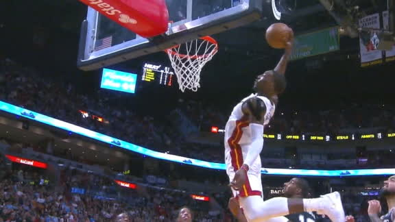Adebayo elevates for monster dunk