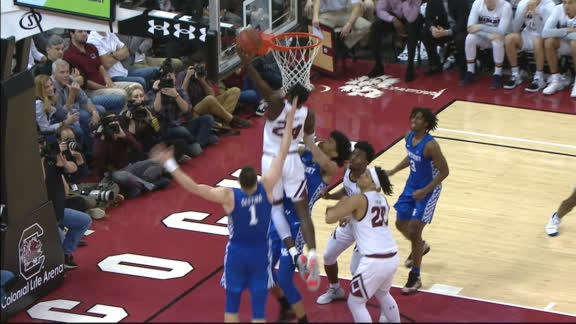 South Carolina's Bryant flies in for putback poster