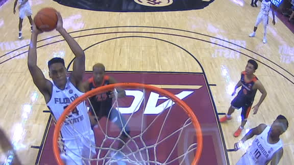 FSU's Vassell blows by everyone for the dunk