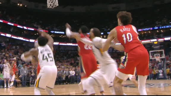 Jazz force OT after late foul call on Pelicans