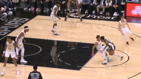 Murray's crossover sends Young to the ground