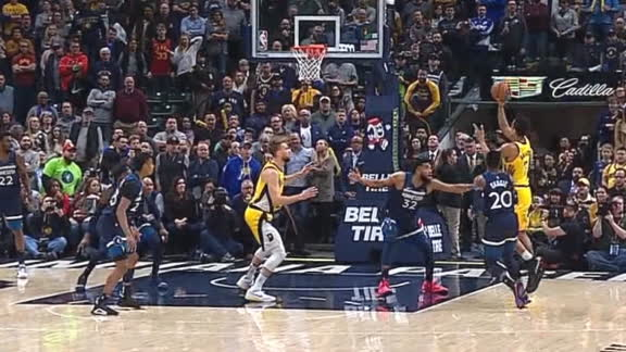 Brogdon's big-time floater gives Pacers the lead