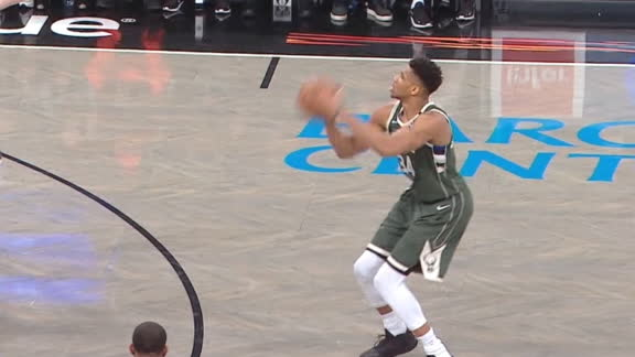 Giannis knocks down 3