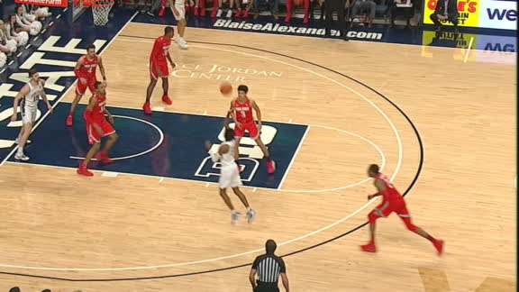 PSU's Wheeler barely beats the shot clock