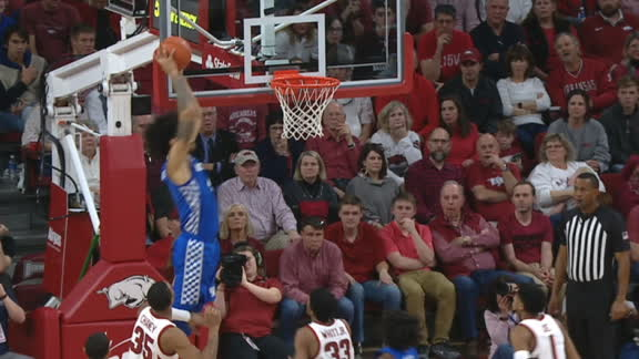 Maxey floats it to Richards for the two-handed slam