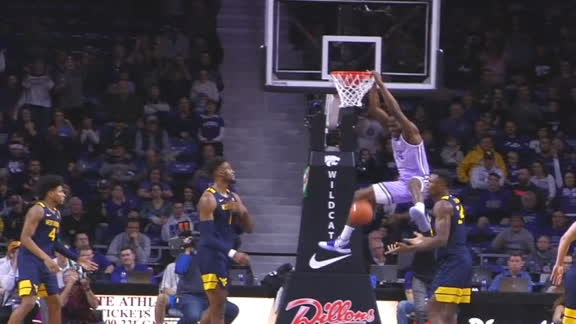 Good Kansas State ball movement leads to a Mawien dunk