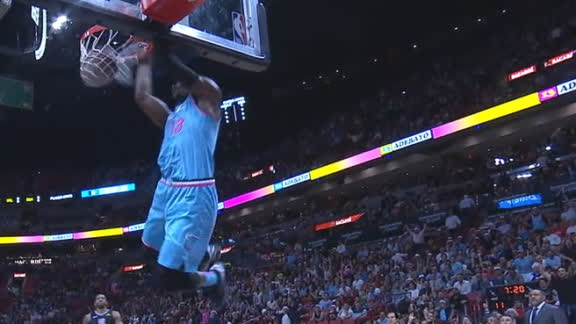 Bam lights up the 305 with alley-oop spike