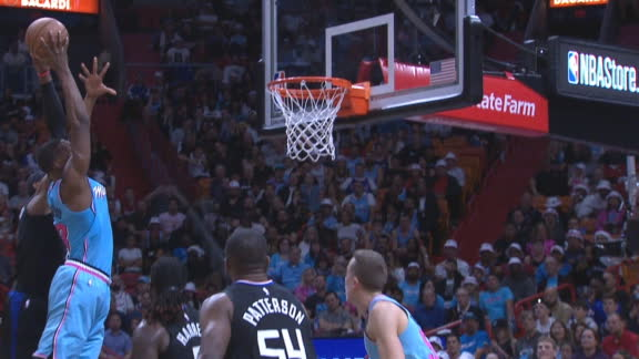 Adebayo throws down Superman slam, plus the foul