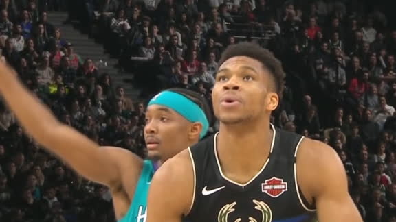 Giannis gets 'M-V-P' chants in Paris