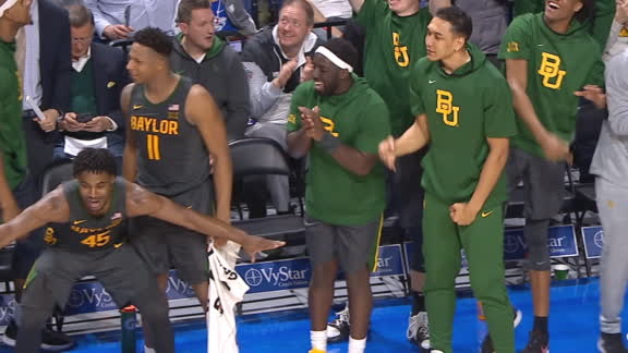 Baylor bench loves Bandoo's 3