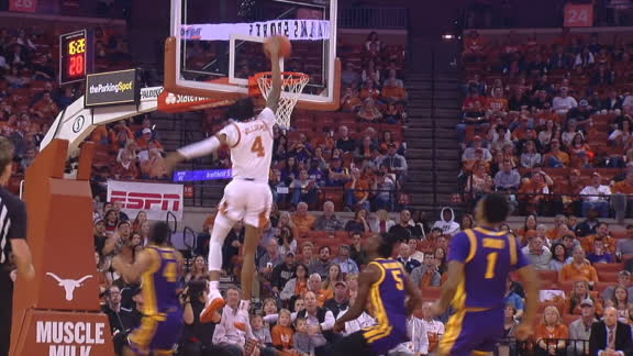 Texas' Williams slams home the one-handed jam