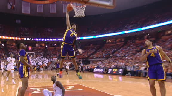 Watford rocks the rim over Texas defender