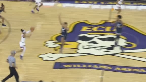 ECU's Monk drains buzzer-beater from beyond half court