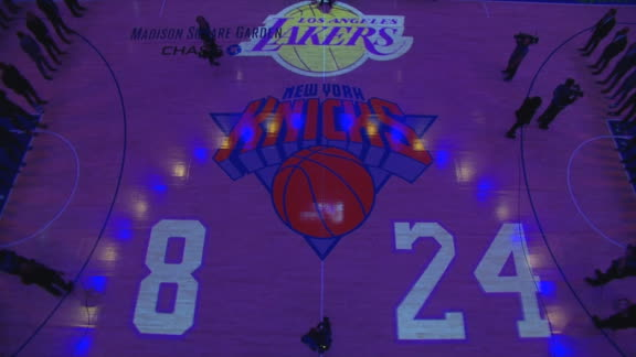 Knicks honor Kobe