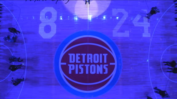 Pistons hold a moment of silence for Kobe Bryant