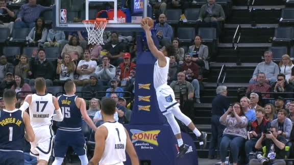Grizzlies execute perfect alley-oop