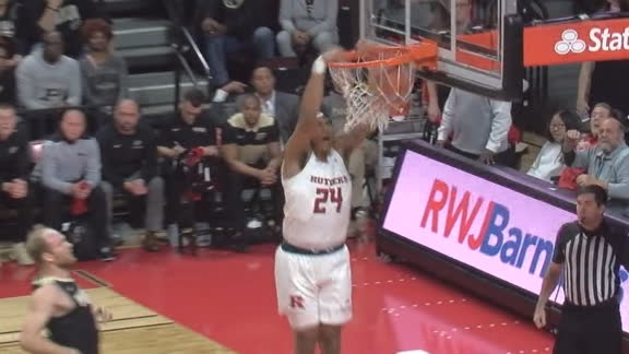 Harper throws down alley-oop slam for Rutgers