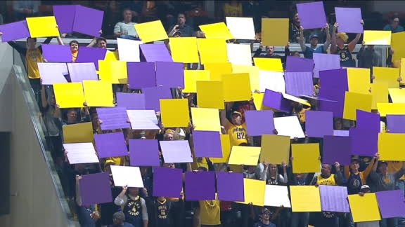 Pacers fans honor Kobe as each team reaches 24 points