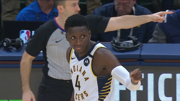 Oladipo sends game to OT with 3-pointer
