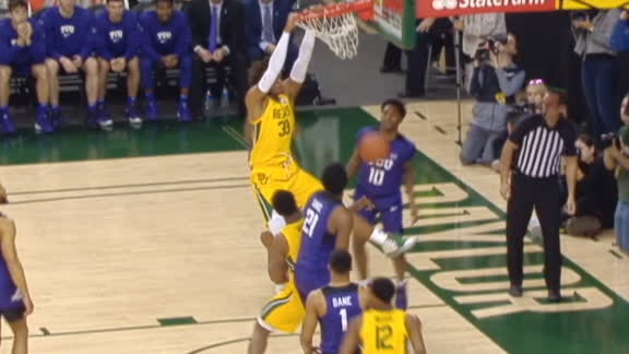 Gillespie throws down dunk for Baylor