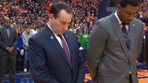 Duke, Syracuse hold 8 second moment of silence for Kobe