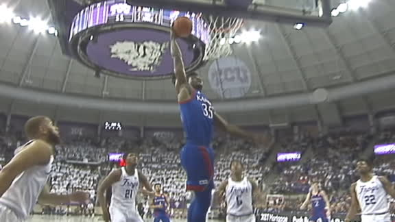 Azubuike throws down a dunk for Kansas