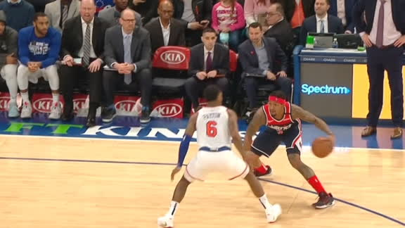 Beal dances around the Knicks defense for pretty and-1