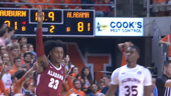 Petty's triple ties it for Alabama late