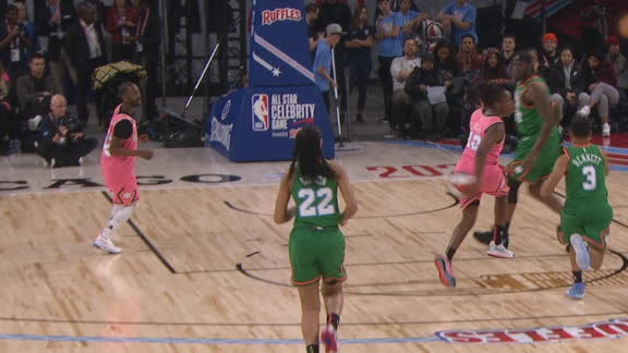 Gray dishes filthy behind-the-back pass to Famous Los