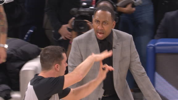 Stephen A. blows a gasket, gets T'd up in Celebrity All-Star Game