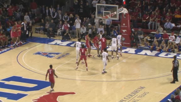 Mills' acrobatic shot sets up OT for Houston vs. SMU