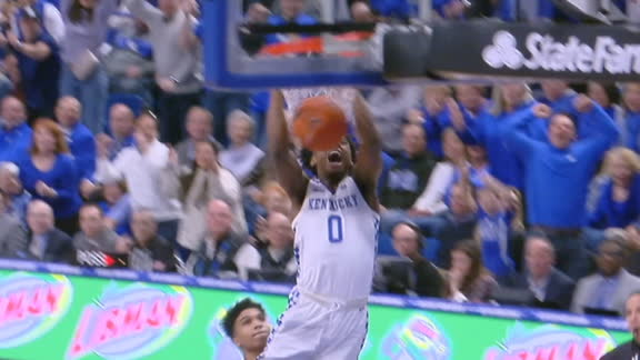 Maxey's steal sets up Hagans' dunk