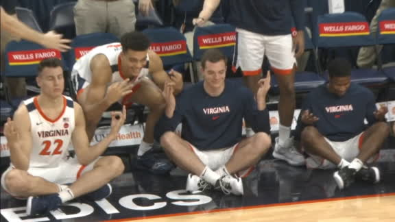 Virginia's bench meditates after 3-ball