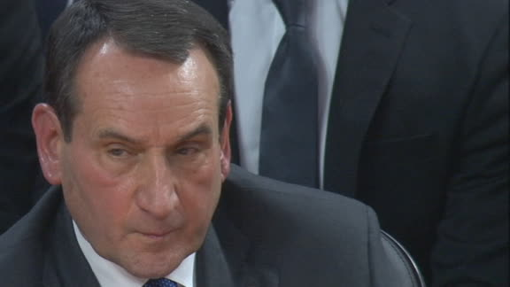 Everything is falling for NC State, and Coach K can't believe it