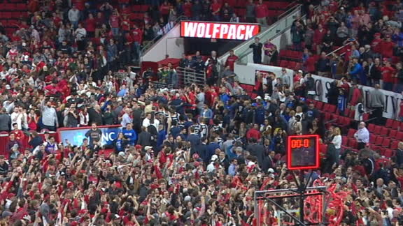 NC State fans storm court after upset over Duke