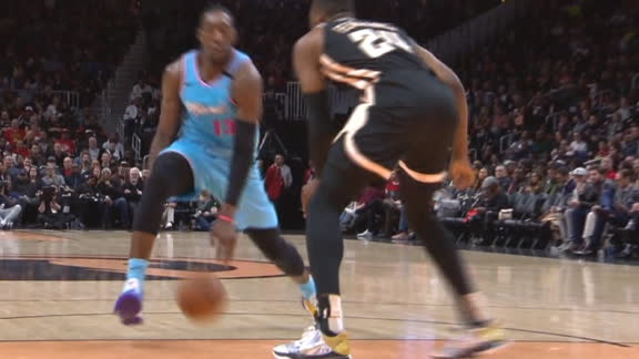 Adebayo goes between his legs for the and-1