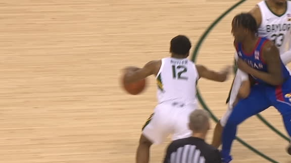 Baylor's Butler uses screen perfectly for 3-pointer