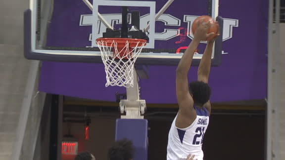 Bane gives it to Samuel for the TCU dunk