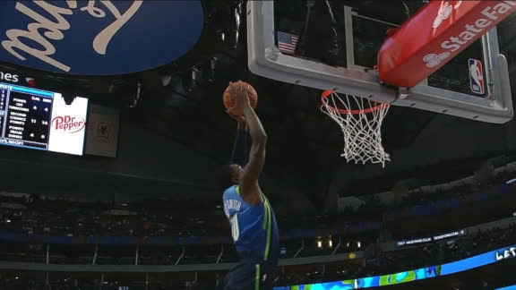 Luka, Finney-Smith connect for alley-oop slam