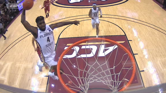 Williams' one-handed slam gets FSU fans on their feet