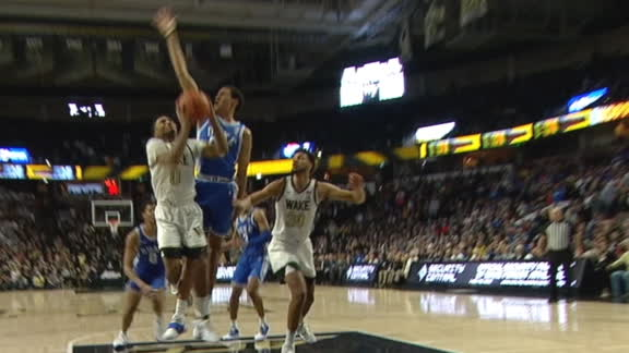 Childress sinks acrobatic and-1 extending Wake Forest's lead in OT