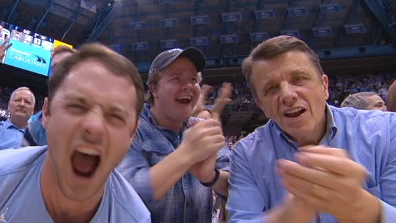 Anthony's jam and dime send UNC fans into a frenzy