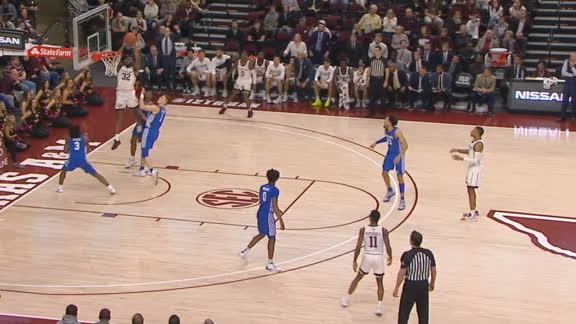 Nebo flushes home an Aggies alley-oop