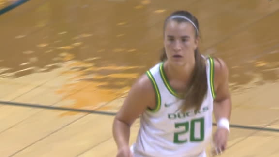 Ionescu drops dime to Sabally for the layup